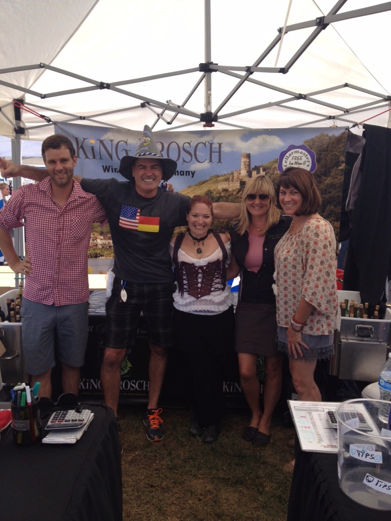 Some members of the King Frosch team at an Oktoberfest event. If you are interested in finding out how you can become an Independent Wine Consultant for King Frosch, contact us today.