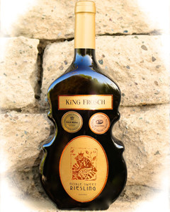 Enjoy our award winning Noble Sweet Riesling in the violin bottle.